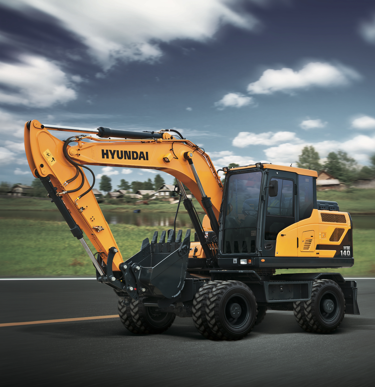 Hyundai: tutte le novità gommate - escavatori gommati HL980 HW140 HW210 Hyundai pale gommate -n. 35 - giugno - MC5.0-Macchine Cantieri