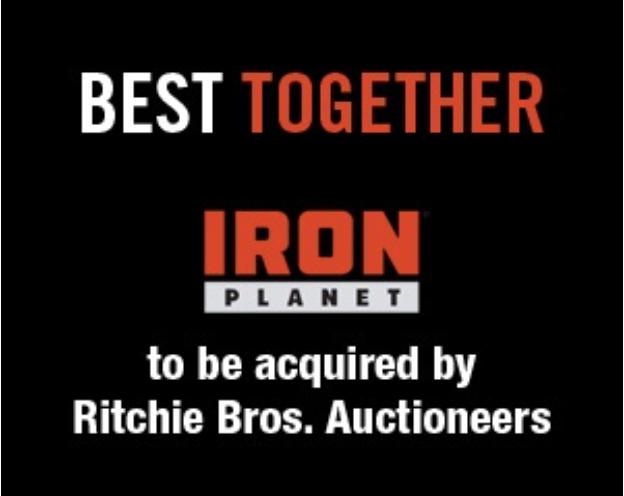 Ritchie Bros. Auctioneers acquisterà Ironplanet - acquisizione aste aste on line Ironplanet Ritchie Bros. Auctioneers -Notizie - MC5.0-Macchine Cantieri