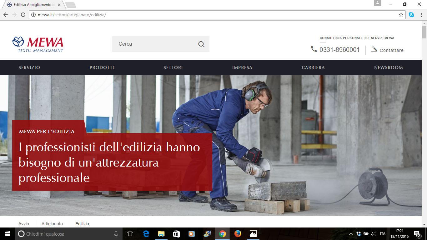 Il Nuovo sito MEWA - abbigliamento da lavoro abbigliamento Mewa DPI Mewa -Formazione, sicurezza, DPI Notizie - MC5.0-Macchine Cantieri