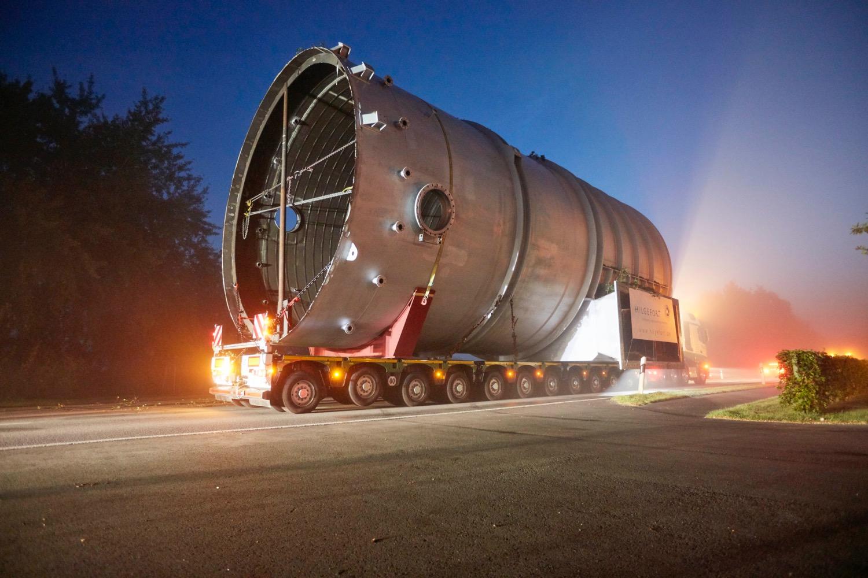 FAYMONVILLE: 105 t in 15 ore -  -Autocarri e allestimenti Notizie Trasporti eccezionali - MC5.0-Macchine Cantieri 2
