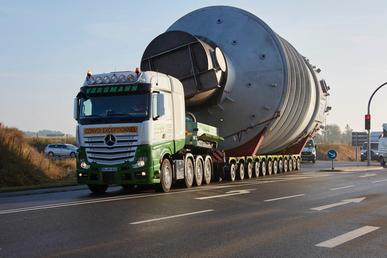 FAYMONVILLE: 105 t in 15 ore -  -Autocarri e allestimenti Notizie Trasporti eccezionali - MC5.0-Macchine Cantieri