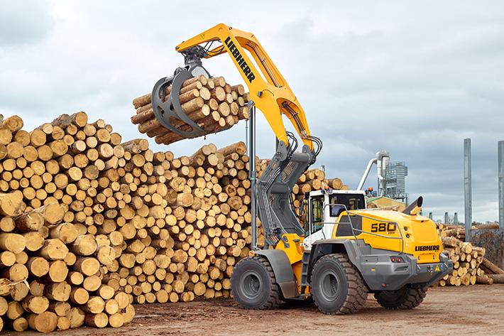 Per il legno: la Liebherr L 580 LogHandler XPower -  -Notizie - MC5.0-Macchine Cantieri