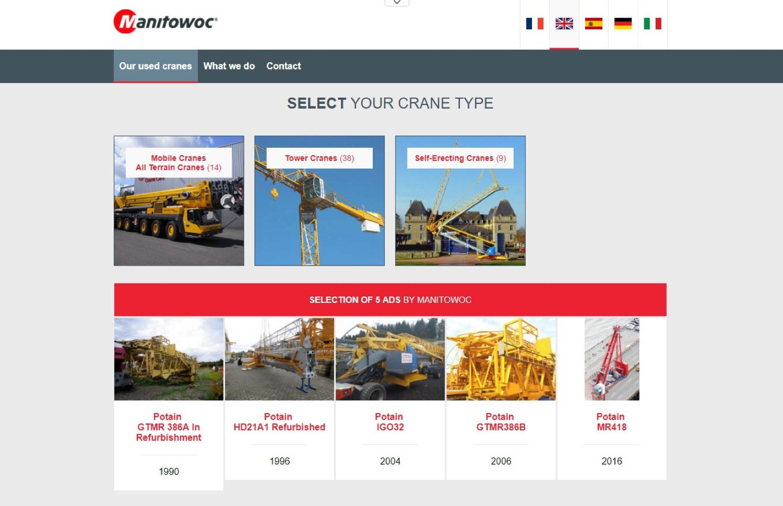 Manitowoc: un nuovo sito per le gru usate -  -Notizie - MC5.0-Macchine Cantieri