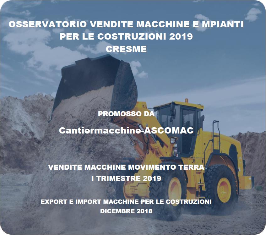 Nuovo e forte segnale positivo dalle macchine e impianti construction - analisi di mercato Cantiermacchine-Ascomac mercato -Construction&Movimento Terra Notizie - MC5.0-Macchine Cantieri