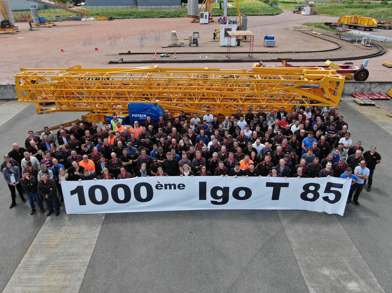 1.000 Potain Igo T 85 - aziende eventi gru a torre Manitowoc. Potain -In quota Notizie - MC5.0-Macchine Cantieri 1