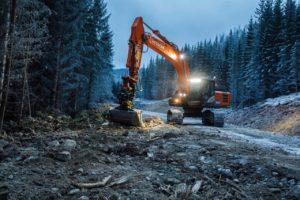 In Norvegia sventola alta la bandiera Hitachi pale gommate pala gommata miniescavatori miniescavatore Hitachi escavatori cingolati escavatore cingolato