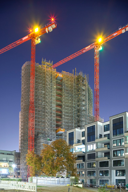 Un grattacielo nuovo per Dusseldorf grazie alle gru Wolffcrane - gru a torre gru flat top Wolffcrane -In quota Notizie - MC5.0-Macchine Cantieri 2