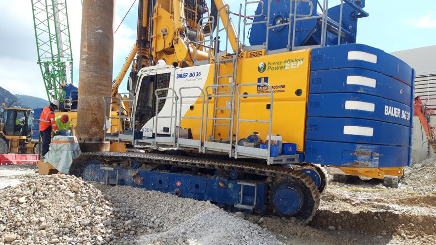 Bauer Macchine Italia per il progetto Mareterra